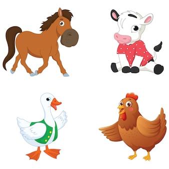 Animales de dibujos animados