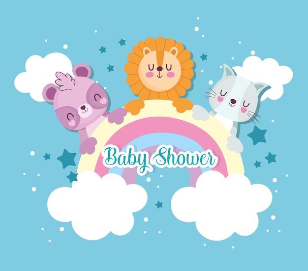Animales de la ducha del bebé