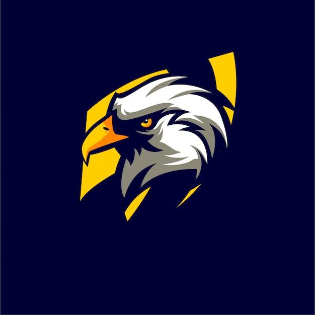 Animales eagle logo estilo deportivo