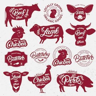 Animales de granja con palabras de letras