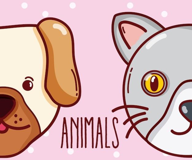 Los animales lindos juntan diseño gráfico del ejemplo del vector de las historietas