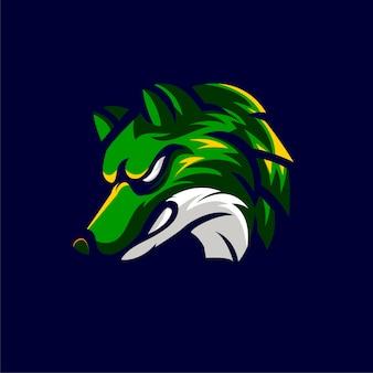 Animales lobo logo estilo deportivo