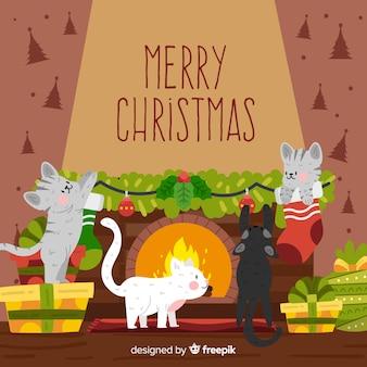 Animales en la navidad