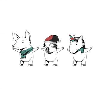 Animales de navidad