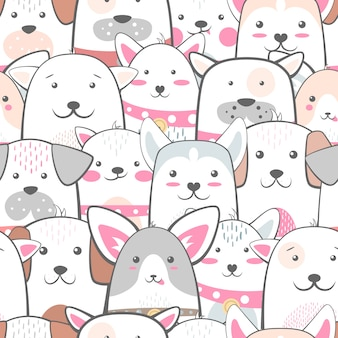 Animales, perro - lindo, patrón divertido