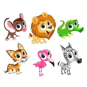 Animales salvajes, cartoon