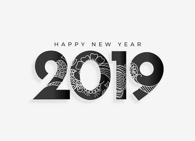 Año nuevo 2019 diseño artístico.