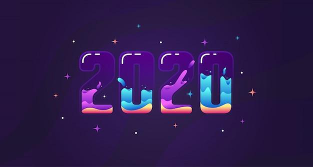 Año nuevo 2020 diseño moderno