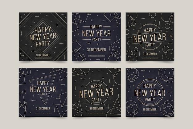 Año nuevo 2020 fiesta instagram story set