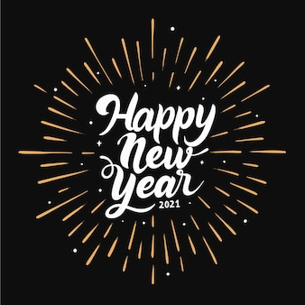 Año nuevo 2021 letras blancas