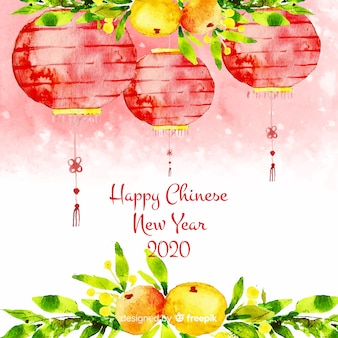 Año nuevo chino con linternas