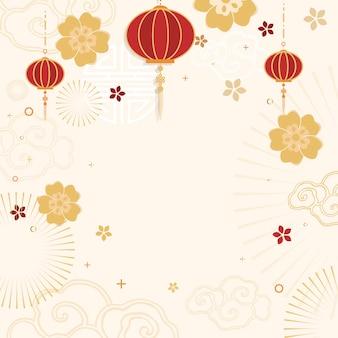 Año nuevo chino maqueta ilustración