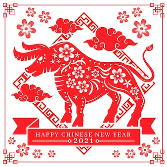 Año nuevo chino mínimo 2021