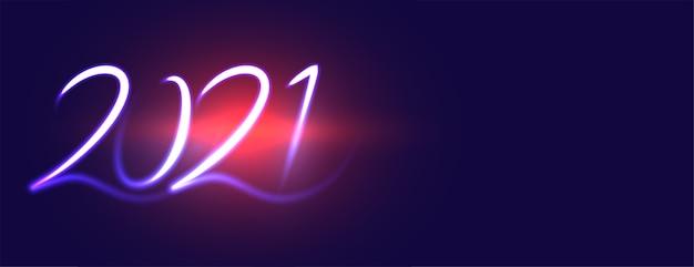 Año nuevo creativo en llamarada azul.