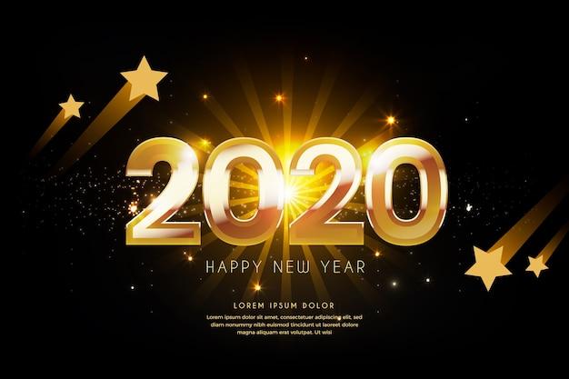 Año nuevo dorado 2020