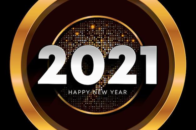 Año nuevo dorado 2021