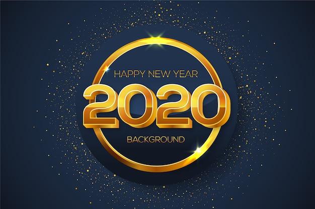 Año nuevo fondo dorado