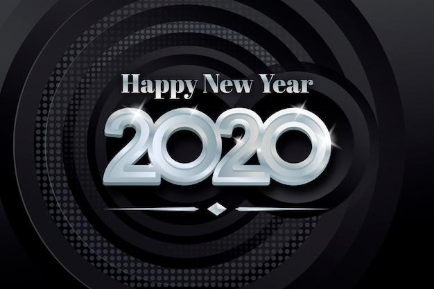 Año nuevo fondo plateado