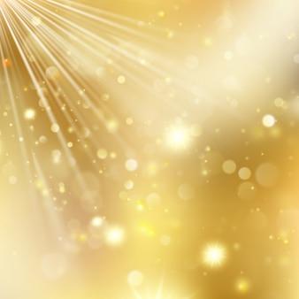 Año nuevo y navidad fondo desenfocado con estrellas parpadeantes.
