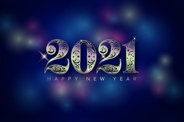Año nuevo con número de luz