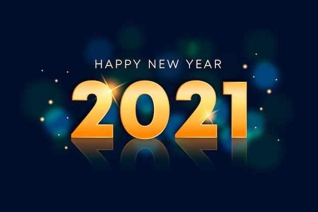 Año nuevo realista 2021