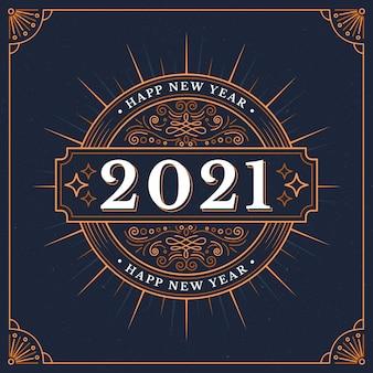 Año nuevo vintage 2021