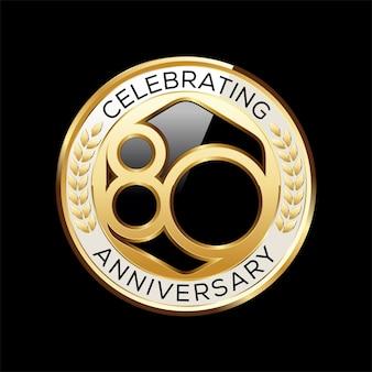 Años emblema aniversario aislado en negro