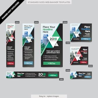 Antecedentes de la ciudad plantilla corporativa de la bandera del web en varios tamaños. fácil de adaptar a folleto, informe anual, revista, póster, medios publicitarios corporativos, folleto, sitio web.