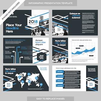 Antecedentes de la ciudad presentación de la empresa con la plantilla infographics.