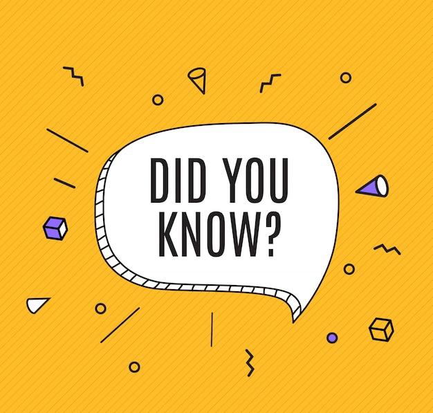 Antecedentes de hechos interesantes. ¿sabía usted pregunta?