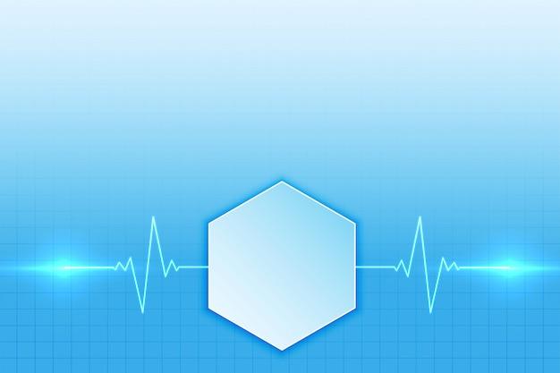 Antecedentes médicos con diseño de línea de latidos del corazón