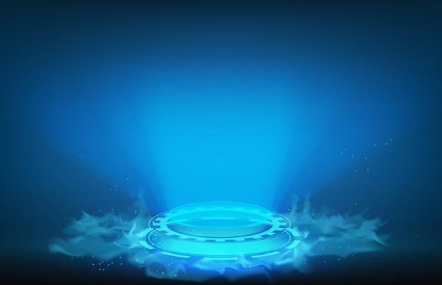 Antecedentes de la pantalla de interfaz futurista círculo hud