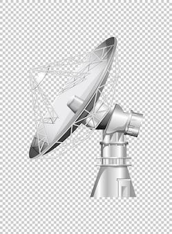 Antena parabólica sobre fondo transparente