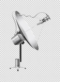 Antena parabólica en transparente