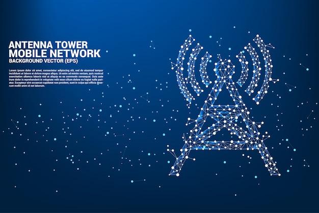 Antena torre de fondo