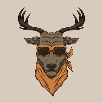 Anteojos de cabeza de ciervo
