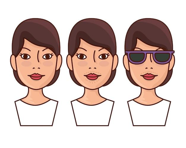 Antes y después de la depilación.