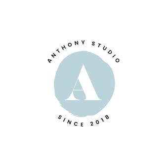 Anthony studio logo design vector
