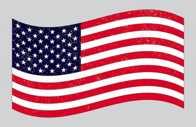 Antigua bandera americana vintage