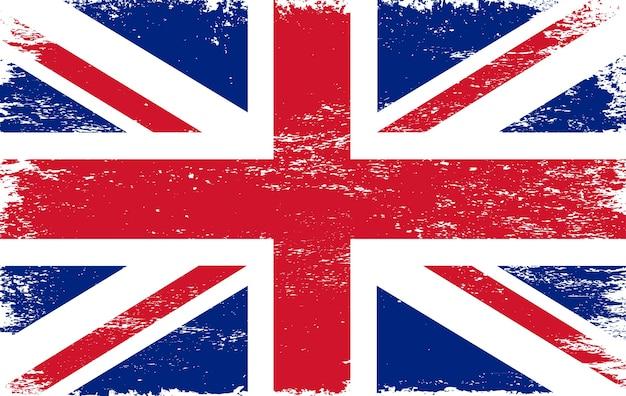 Antigua bandera de jingdom unido grunge