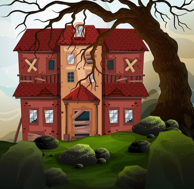 Antigua casa en el bosque