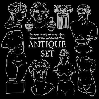 La antigua grecia y roma establecen una colección de conjuntos de tradición y cultura.