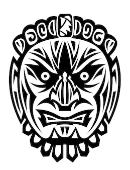 Antigua máscara tribal