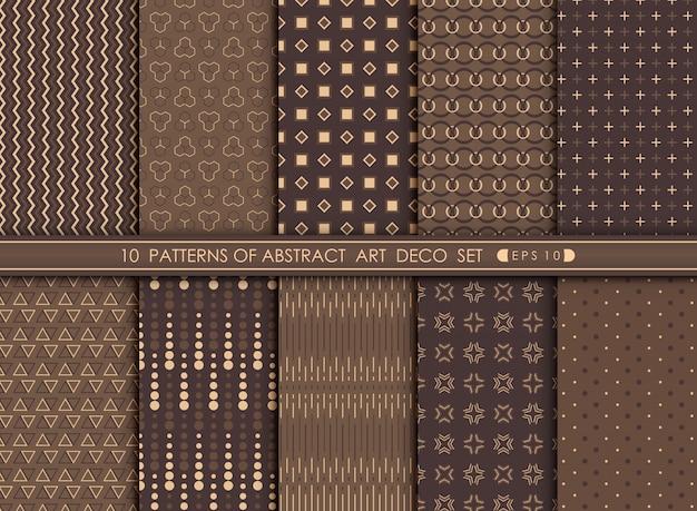 Antigüedad moderna abstracta del sistema del diseño del modelo del art déco.