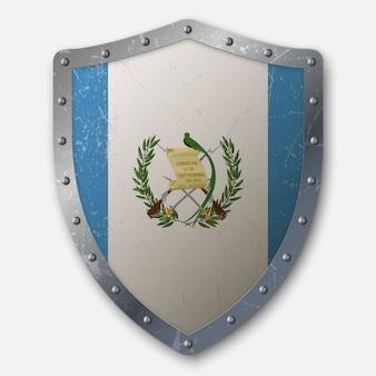 Antiguo escudo con bandera de guatemala