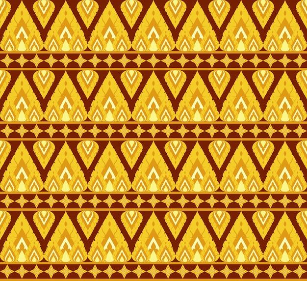 Antiguo estilo tailandés ornamentales de patrones sin fisuras
