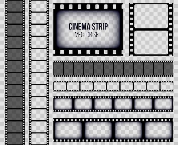Antiguo marco de tira de película retro, tira de película de cine.