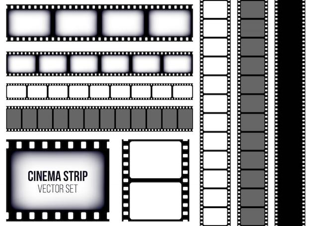 Antiguo marco de tira de película retro