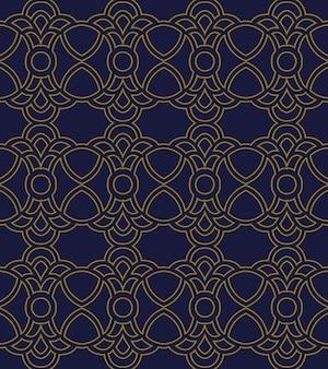 Antiguo patrón sin costuras curva redonda cruz crest cadena