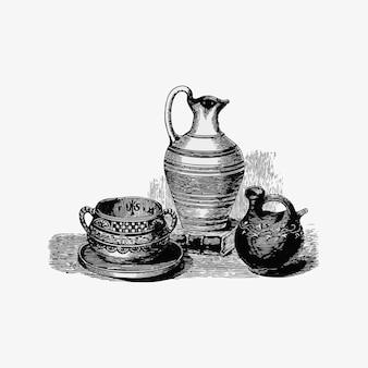 Antiguos jarrones romanos
